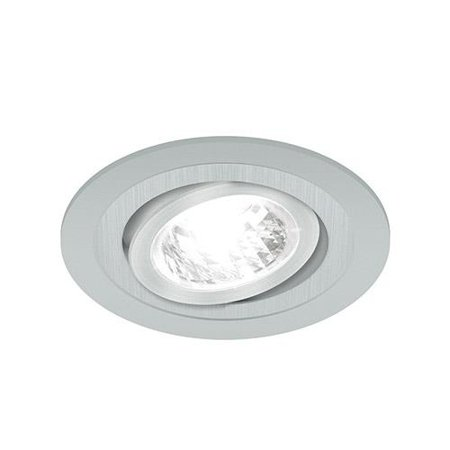 Bodové Stropní svítidlo BORYS C, kulatá, 1 x GU10, stříbrná, 3224, Struhm