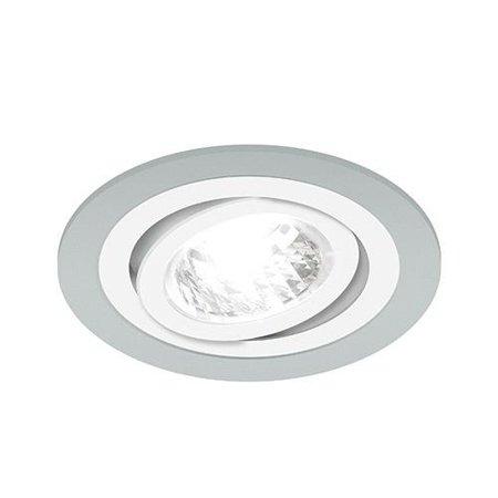 Bodové Stropní svítidlo BORYS C, kulatá, 1 x GU10, stříbrná/bílá, 3225, Struhm