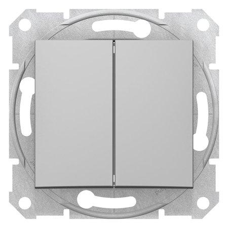 Dvojité tlačítko hliník Sedna SDN1100160 Schneider Electric