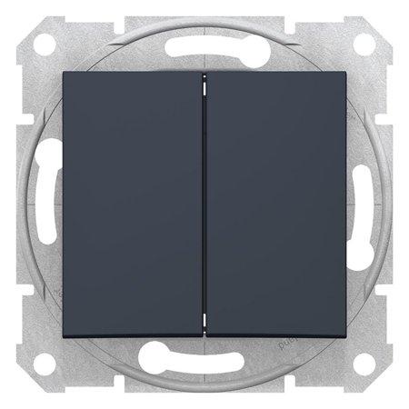 Dvojitý vypínač schodišťový, grafitová Sedna SDN0600170 Schneider Electric