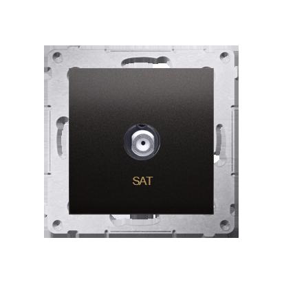 Kontakt Simon 54 Premium Antracit Anténní zásuvka SAT jednonásobná (modul) DASF1.01/48
