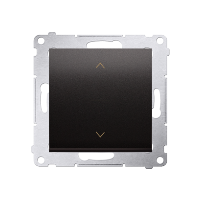 Kontakt Simon 54 Premium Antracit DZW1K.01/48 Vypínač žaluzii třípolohový 1-0-2 (modul) Antracit