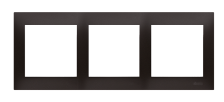 Kontakt Simon 54 Premium Antracit Rámeček 3-násobný univerzální pro sádrokartonové krabice IP20/IP44, DRK3/48