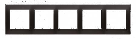Kontakt Simon 54 Premium Antracit Rámeček 5-násobný univerzální pro sádrokartonové krabice IP20/IP44, DRK5/48