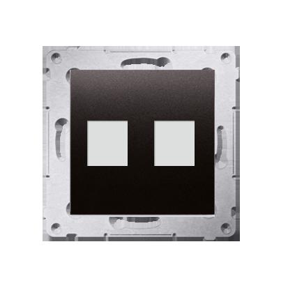Kontakt Simon 54 Premium Antracit Telekomunikační kryt zásuvky na Keystone plochá dvojnásobný (modul), DKP2.01/48