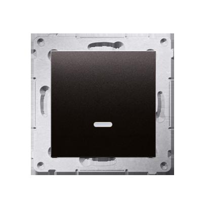 Kontakt Simon 54 Premium Antracit Tlačítko jednopólové zkratovací s podsvícením LED bez pikt. X šroubové koncovky, DP1AL.01/48