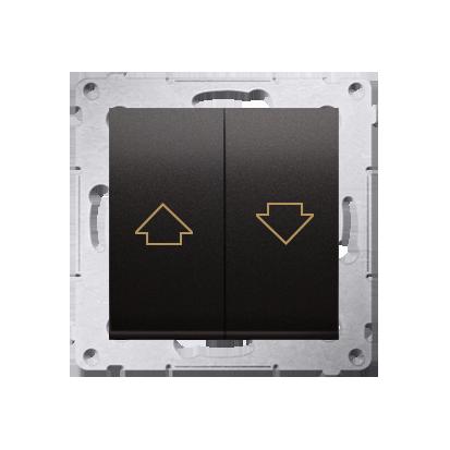 Kontakt Simon 54 Premium Antracit Tlačítko ovládání žaluzií z více míst, šroubové koncovky, DZP1W.01/48