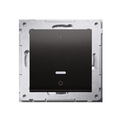 Kontakt Simon 54 Premium Antracit Vypínač dvoupólový s podsvícením LED rychlospojka, DW2L.01/48