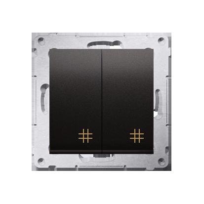 Kontakt Simon 54 Premium Antracit Vypínač křížový dvojnásobný 2 klávesy (modul) ~, DW7/2.01/48