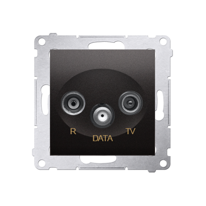 Kontakt Simon 54 Premium Antracit Zásuvka R-TV-DATA (modul), DAD.01/48