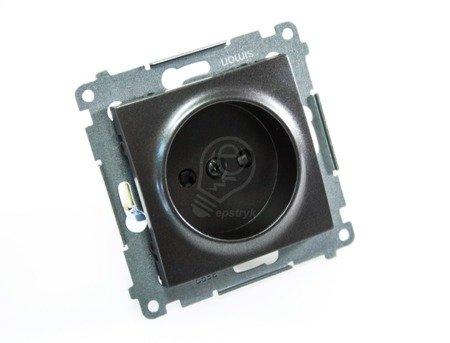 Kontakt Simon 54 Premium Antracit Zásuvka bez uzemnění s clonou šroubové koncovky, DG1Z.01/48