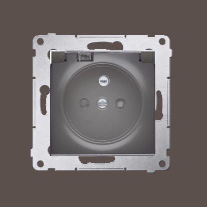 Kontakt Simon 54 Premium Antracit Zásuvka pro verzi IP44 klapka transp, DGZ1BUZ.01/48A