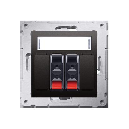 Kontakt Simon 54 Premium Antracit reproduktorová zásuvka 2-násobná s popisovým polem (modul) DGL32.01/48