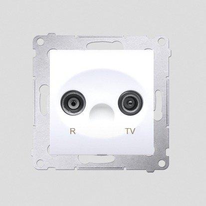 Kontakt Simon 54 Premium Bílý Anténní zásuvka R-TV koncová oddělená (modul), DAK.01/11