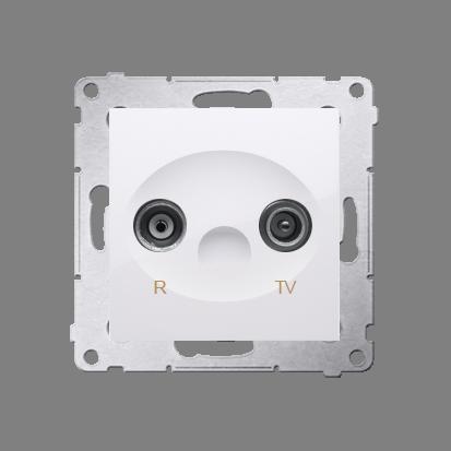 Kontakt Simon 54 Premium Bílý Anténní zásuvka R-TV zakončovací do zásuvek průchozích (modul), DAZ.01/11