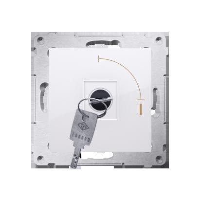 """Kontakt Simon 54 Premium Bílý Vypínač na klíč jednonásobný 2 pol. """"0-I"""" spínač N/O vyt. klíče v každé pozici, DW1K.01/11"""