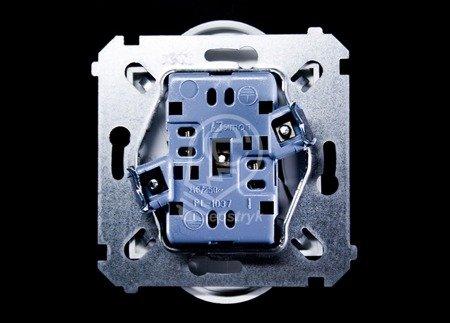 Kontakt Simon 54 Premium Bílý Zásuvka dvojitá bez uzemnění s clonou šroubové koncovky, DG2MZ.01/11