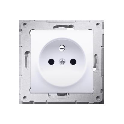 Kontakt Simon 54 Premium Bílý Zásuvka s uzemněním a clonami rychlospojka, DGZ1CZ.01/11