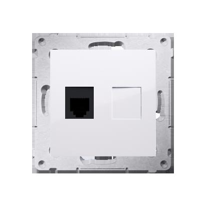 Kontakt Simon 54 Premium Bílý Zásuvka telefónní jednonásobná RJ12 (modul), DT1.01/11