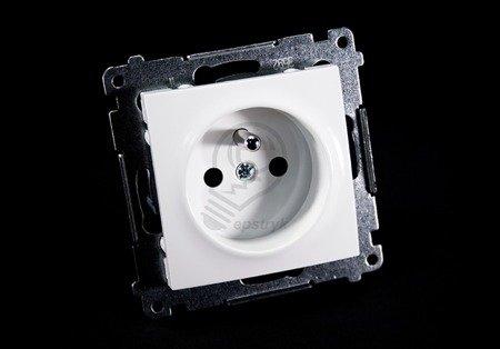 Kontakt Simon 54 Premium Bílý Zásuvka z uz. a clonami šroubové koncovky, DGZ1Z.01/11