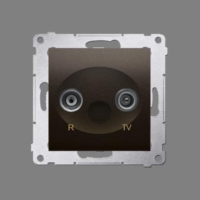 Kontakt Simon 54 Premium Hnědá, matný Anténní zásuvka R-TV zakončovací do zásuvek průchozích (modul), DAZ.01/46