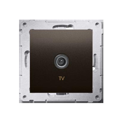 Kontakt Simon 54 Premium Hnědá, matný Anténní zásuvka TV jednonásobná (modul) DAK1.01/46