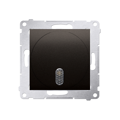 Kontakt Simon 54 Premium Hnědá, matný Elektronický zvonek (modul) 8–12 V~, DDT1.01/46