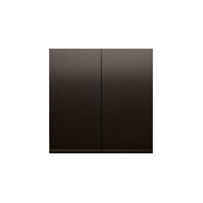 Kontakt Simon 54 Premium Hnědá, matný Klávesy pro vypínače/Tlačítek dvojnásobných, DKW5/46
