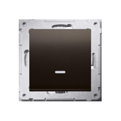 Kontakt Simon 54 Premium Hnědá, matný Vypínač jednonásobný se signalizací připojení LED (modul) rychlospojka, DW1ZL.01/46