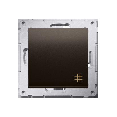 Kontakt Simon 54 Premium Hnědá, matný Vypínač křížový (modul) X šroubové koncovky, DW7A.01/46