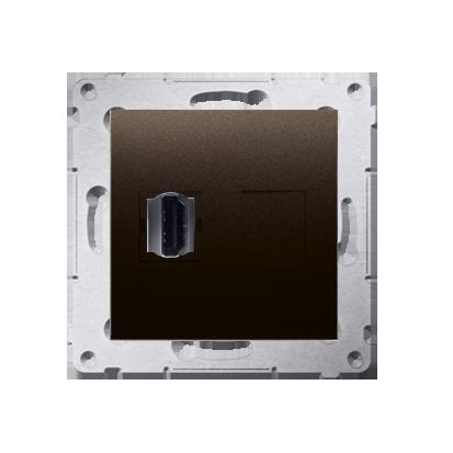 Kontakt Simon 54 Premium Hnědá, matný Zásuvka HDMI (modul), DGHDMI.01/46