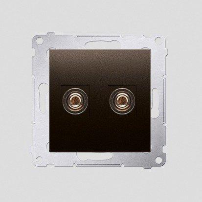 Kontakt Simon 54 Premium Hnědá, matný Zásuvka reproduktoru jednonásobná (modul) DGL2.01/46
