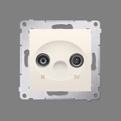 Kontakt Simon 54 Premium Krémová Anténní zásuvka R-TV průběžná (modul), útlum. TV a R 10 dB, DAP10.01/41