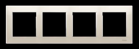Kontakt Simon 54 Premium Krémová Rámeček 4-násobný univerzální IP20/IP44, DR4/41