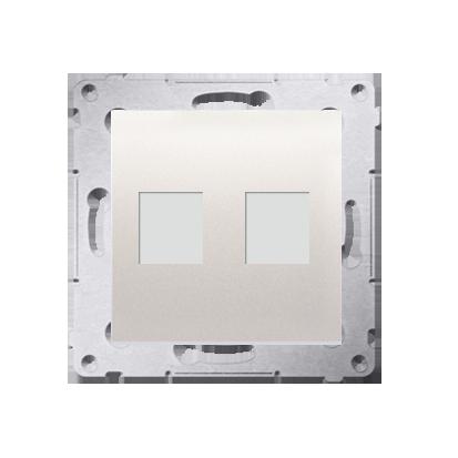 Kontakt Simon 54 Premium Krémová Teleinformační kryt zásuvek na Keystone plochý, dvojitý (modul), DKP2.01/41