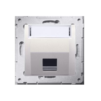 Kontakt Simon 54 Premium Krémová Telekomunikační kryt zásuvky na Keystone šikmý jednonásobný s popisovým pólem DKP1S.01/41