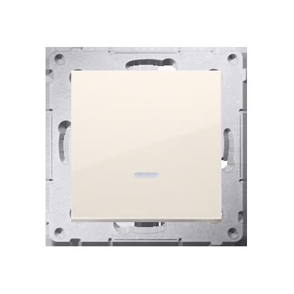 Kontakt Simon 54 Premium Krémová Tlačítko jednopólové zkratovací s podsvícením LED bez pikt. X šroubové koncovky, DP1AL.01/41
