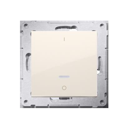 Kontakt Simon 54 Premium Krémová Vypínač dvoupólový s podsvícením LED rychlospojka, DW2L.01/41