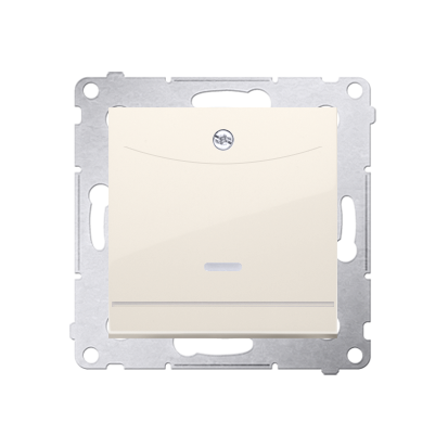 Kontakt Simon 54 Premium Krémová Vypínač hotelový dvojnásobný -2Z s podsvícením. Jmenovitý proud 10 (2) A . DWH2.01/41