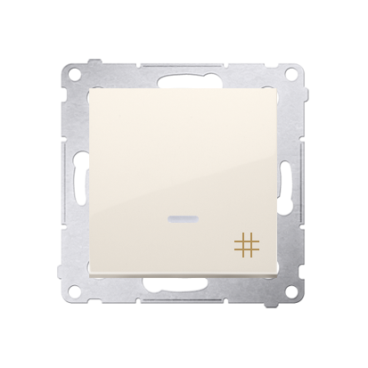 Kontakt Simon 54 Premium Krémová Vypínač křížový s podsvícením LED (modul) rychlospojka, DW7L.01/41