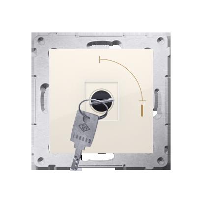 "Kontakt Simon 54 Premium Krémová Vypínač na klíč jednonásobný 2 pol. ""0-I"" spínač N/O vyt. klíče v každé pozici, DW1K.01/41"