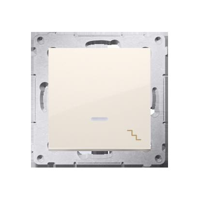 Kontakt Simon 54 Premium Krémová Vypínač schodišťový s podsvícením LED (modul) rychlospojka, DW6L.01/41