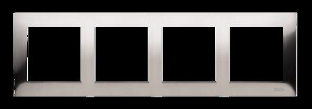 Kontakt Simon 54 Premium Rámeček 4-násobný univerzální IP20/IP44, inox DR4/61