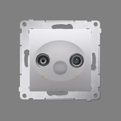 Kontakt Simon 54 Premium Stříbrná Anténní zásuvka R-TV zakončovací do zásuvek průchozích (modul), DAZ.01/43
