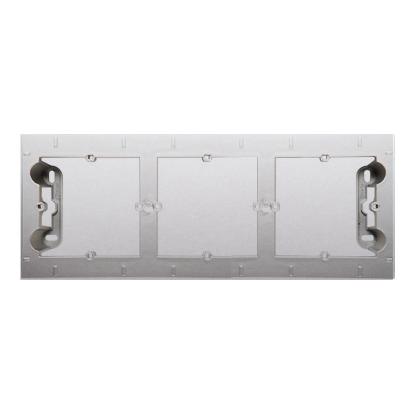 Kontakt Simon 54 Premium Stříbrná Krabice nástěnná ,krytka 3-násobná , DPN3/43