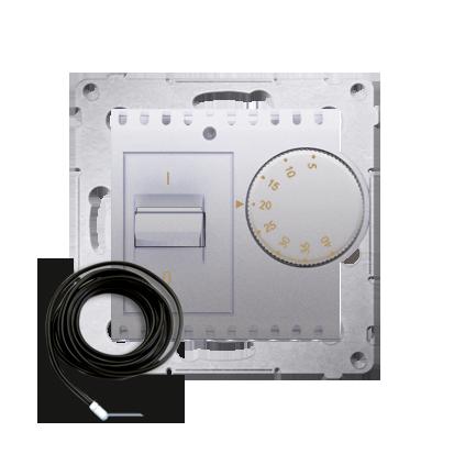 Kontakt Simon 54 Premium Stříbrná Regulátor teploty s vnějším senzorem (modul) DRT10Z.02/43