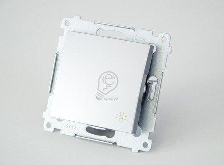 Kontakt Simon 54 Premium Stříbrná Vypínač křížový (modul) rychlospojka, DW7.01/43