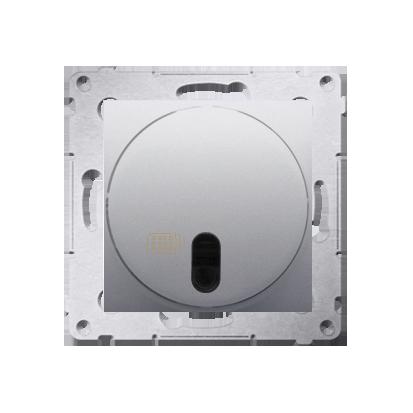 Kontakt Simon 54 Premium Stříbrná stmívač tlačítkový a dálkově ovládaný (modul) 20–500 W, DS13T.01/43