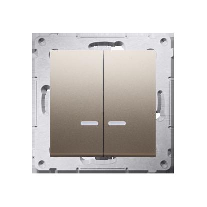 Kontakt Simon 54 Premium Zlatá Přepínač sériový s podsvícením LED, pro verzi IP44 DW5ABL.01/44
