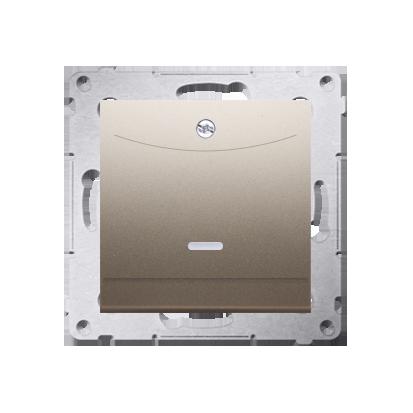 Kontakt Simon 54 Premium Zlatá Vypínač hotelový dvojnásobný -2Z s podsvícením. Jmenovitý proud 10 (2) A . DWH2.01/44